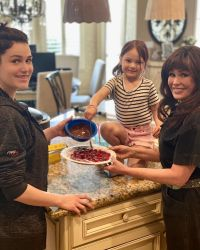 Marie Osmond and daughter Rachael with granddaughter Rocket