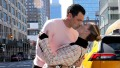 Peta Murgatroyd and Maksim Chmerkovskiy Kiss in Times Square