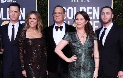 Tom Hanks and family