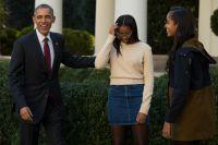 Barack Obama and family