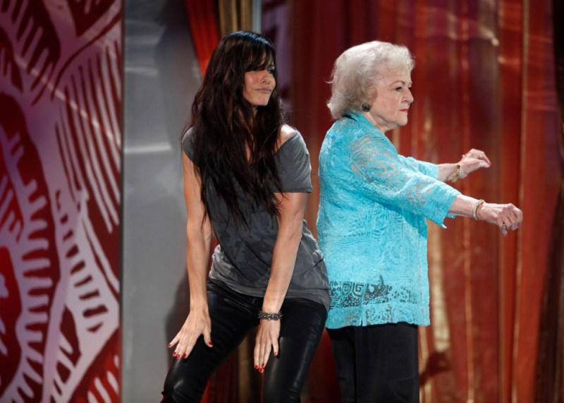 Sandra Bullock and Betty White