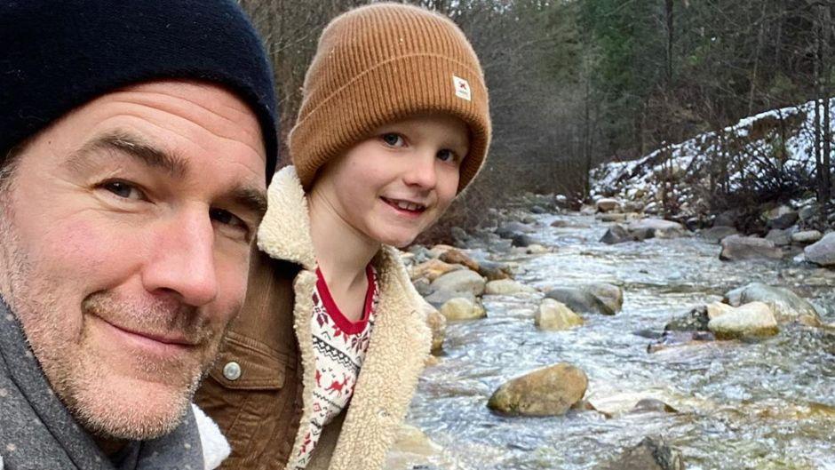 James Van Der Beek and son