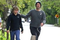 EXCLUSIVE: Chris Martin out with his son Moses who celebrates his 14th birthday today