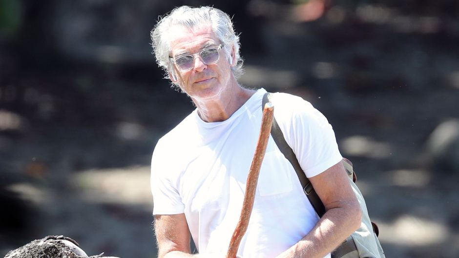 Pierce Brosnan out for a hike in Hawaii on his own during the Covid19 lockdown