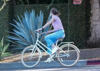 Jennifer Garner Goes for a Bike Ride with her Son