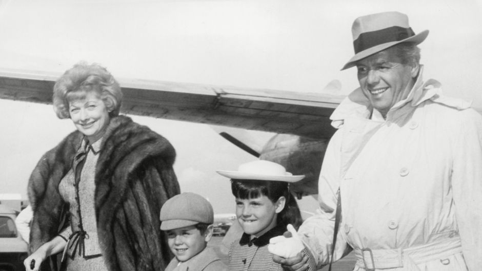 Actress Lucille Ball With Husband Actor Desi Arnaz Son Desi And Daughter Lucie
