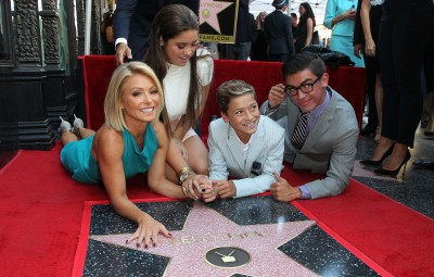 Kelly Ripa and family