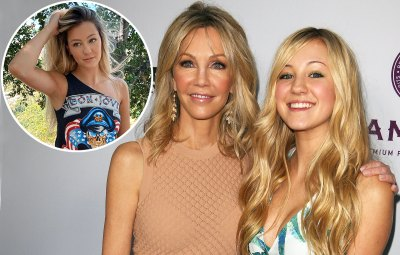 Heather Locklear Mini-Me Daughter Ava Wears Mom 20-Year-Old Shirt