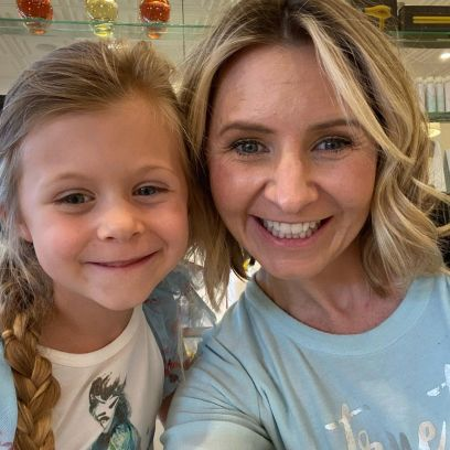 Beverley Mitchell and child