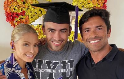 Kelly Ripa and Mark Consuelos with son Michael