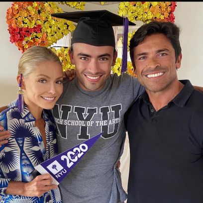 Kelly Ripa and Mark Consuelos with son Michael