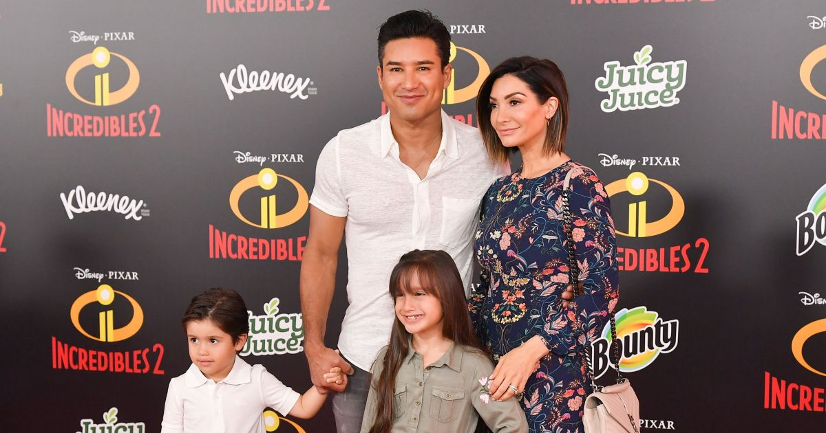 Mario Lopez And Wife Courtney Enjoy Pool Party With Their 3 Kids