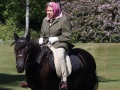 The Queen rides out during the Coronavirus Pandemic