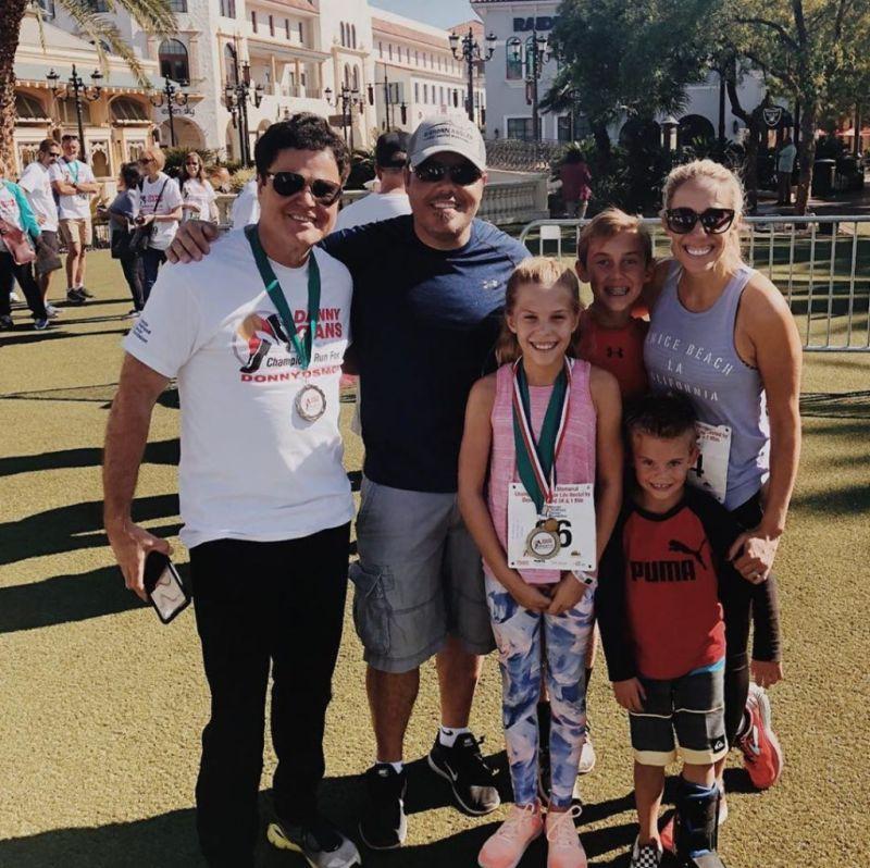 Donny Osmond and son Jeremy's family