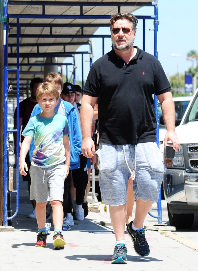 Russell Crowe out and about, Los Angeles, America - 16 Jul 2015