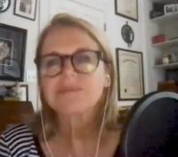 Katie Couric in her office