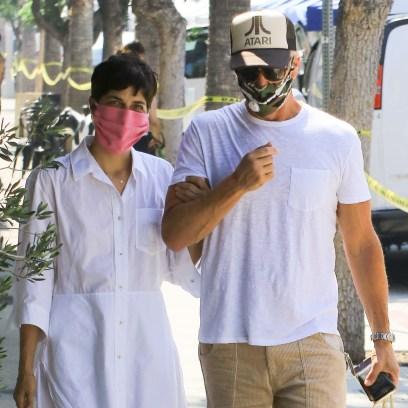 Selma Blair and David Lyons are seen in Los Angeles