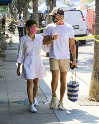 Selma Blair and David Lyons are seen in Los Angeles