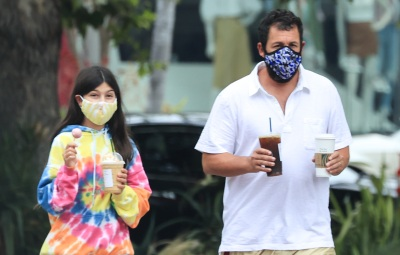 Adam Sandler grabs a coffee with daughter Sunny at Starbucks
