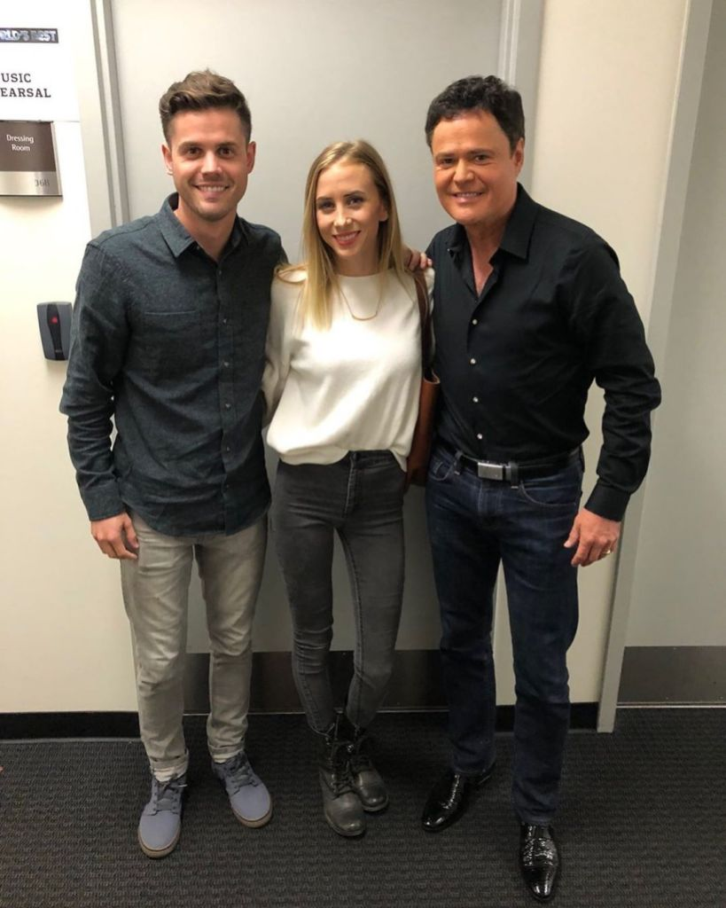 Donny Osmond son Christoper and his wife, Alta,
