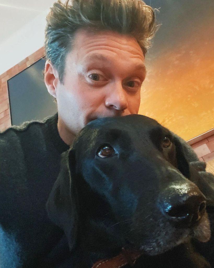 Ryan Seacrest and dog Georgia