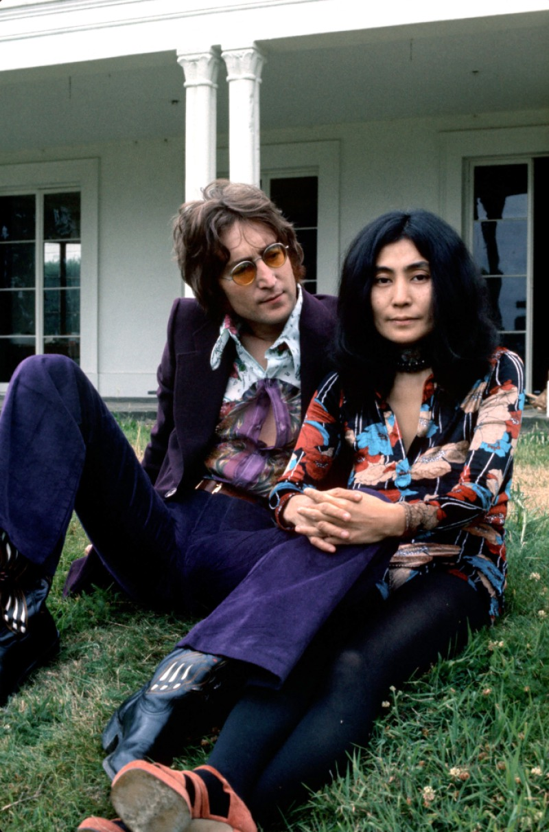 John Lennon and Yoko Ono at their home at Tittenhurst Park, Britain - 1970