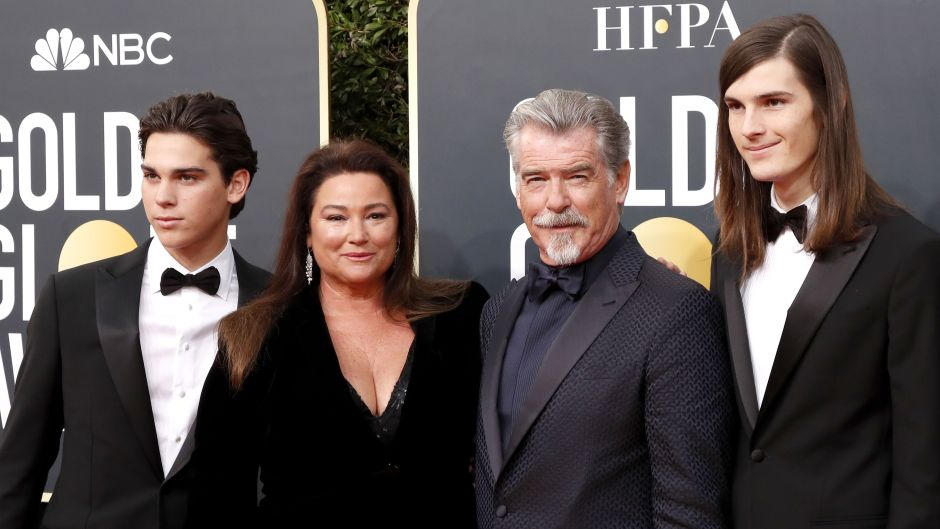 Pierce Brosnan and his family