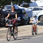Lauren Silverman enjoys a bike ride with her sons