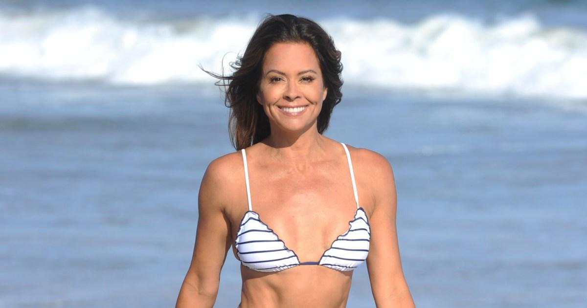 Brooke Burke, 48, Shows Off Bikini Body During Beach Photo Shoot
