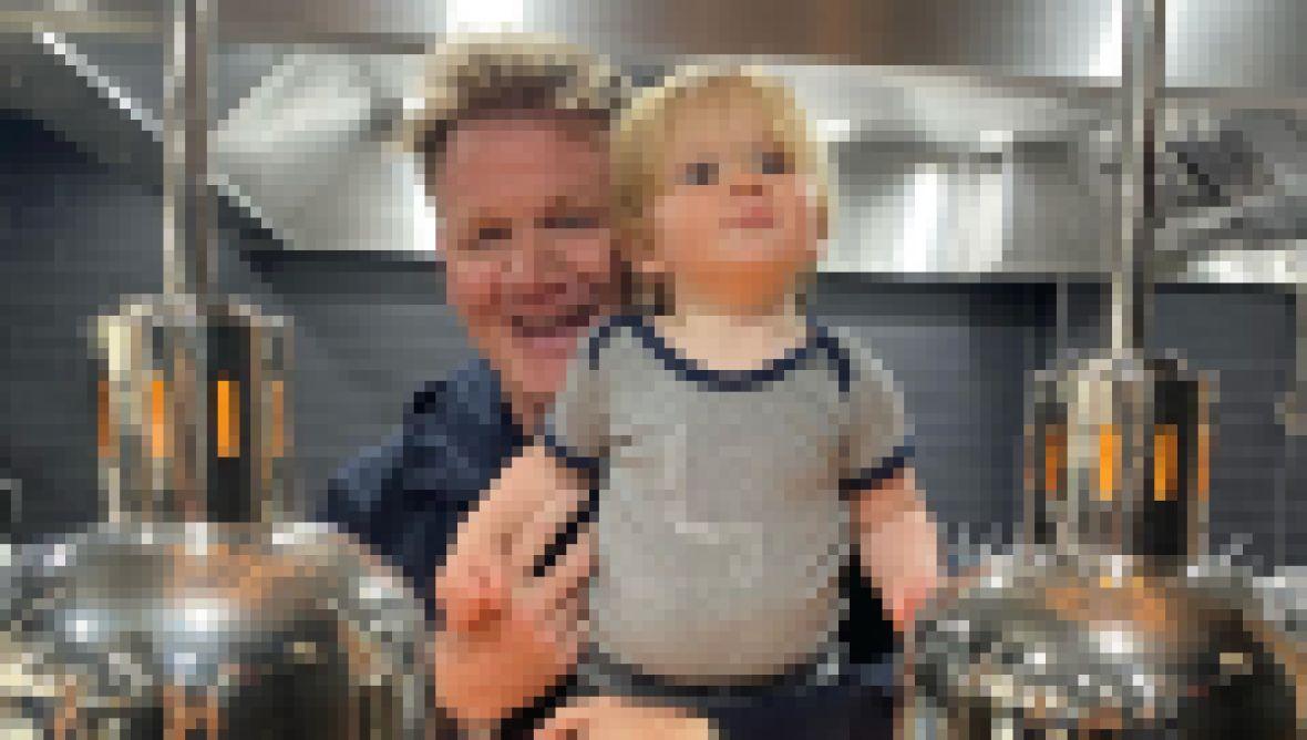 Gordon Ramsay and baby Oscar