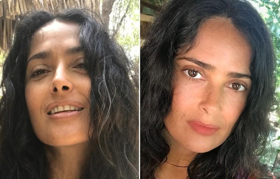 salma-hayeks-makeup-free-selfies-see-the-actress-gorgeous-photos
