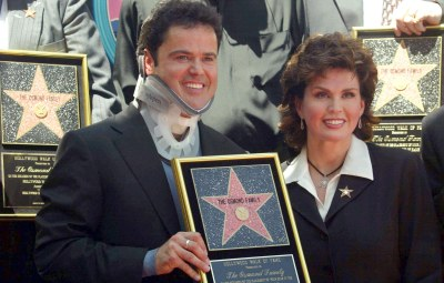 THE OSMONDS RECEIVING A STAR ON THE 'HOLLYWOOD WALK OF FAME', LOS ANGELES, AMERICA - 07 AUG 2003