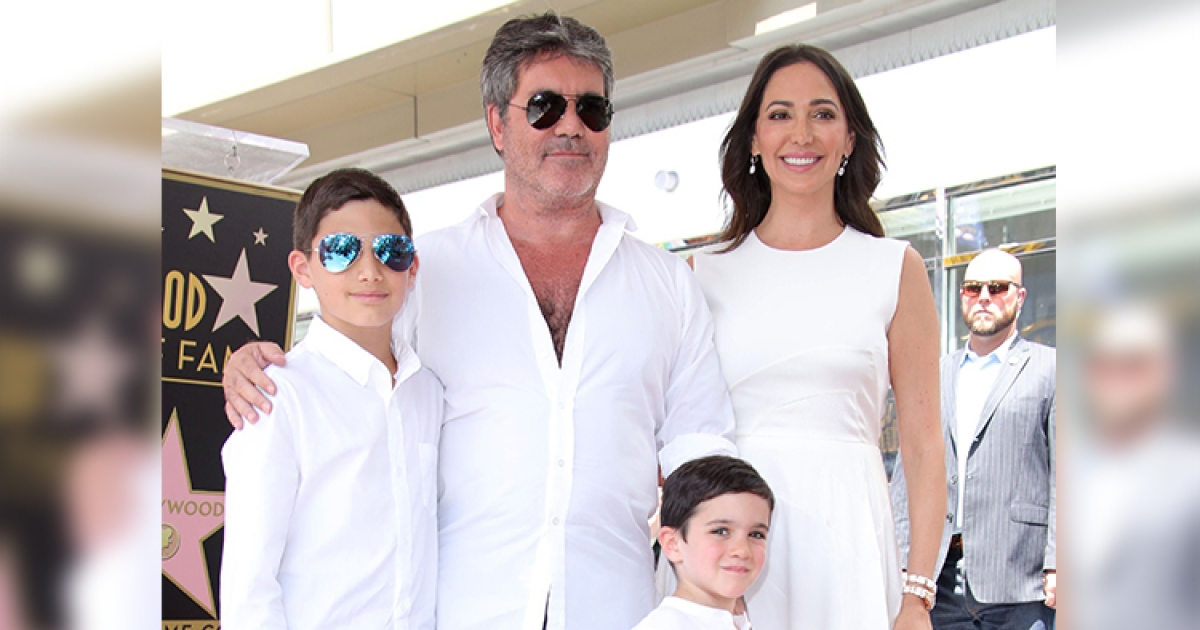 Simon Cowell S Kids Son Eric And Stepson Adam With Lauren Silverman