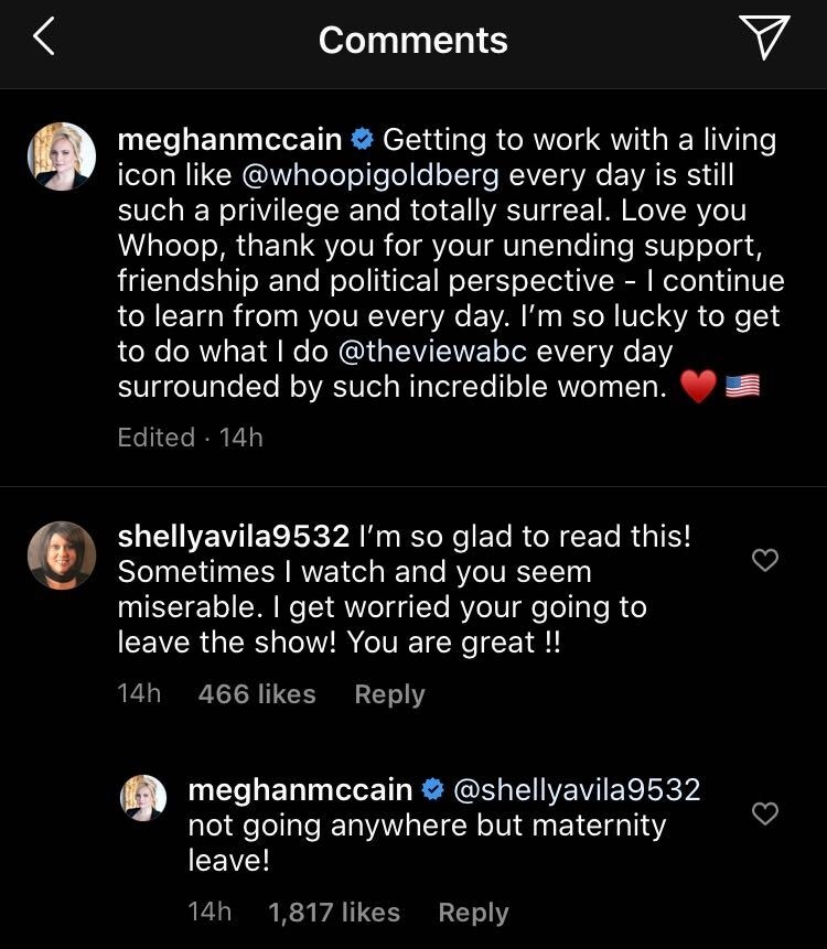 is-meghan-mccain-leaving-the-view-star-to-take-maternity-leave