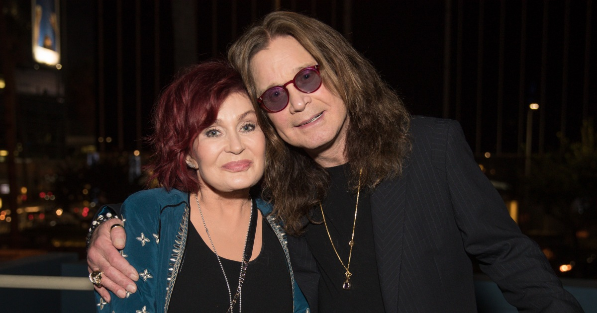 Ozzy Osbourne, 71, Rocks Gray Hair While Hanging With Wife Sharon