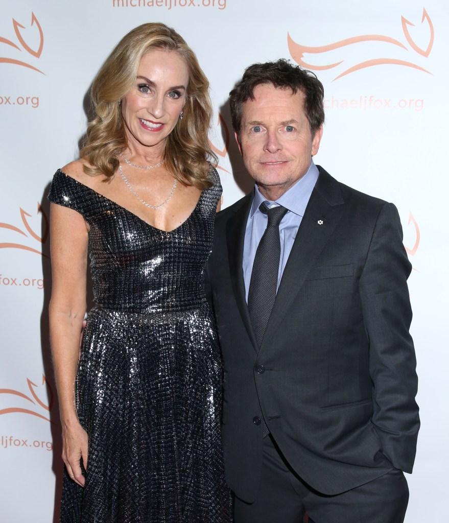 Michael J. Fox and Wife tracy Pollan