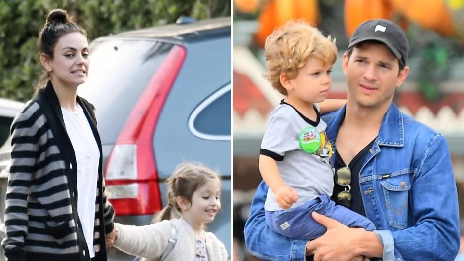 mila-kunis-and-ashton-kutchers-rare-photos-with-their-2-kids