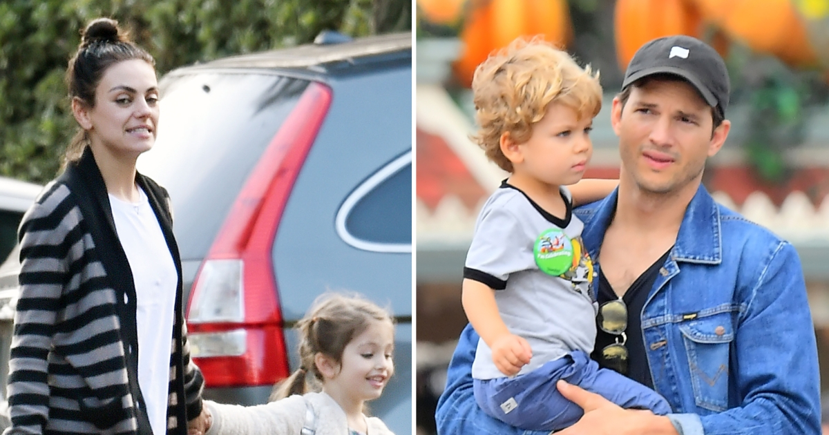 Kunis kids mila Ashton Kutcher
