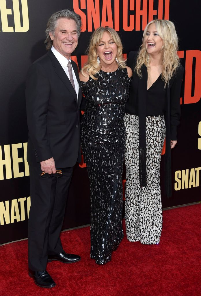 Kurt Russell, from left, Goldie Hawn and Kate Hudson