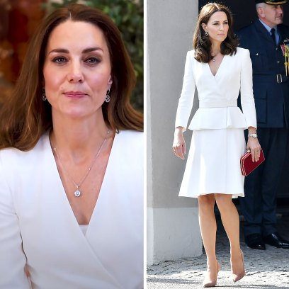 Kate Middleton Stuns In Recycled White Alexander McQueen Dress for Video Thanking Nurses