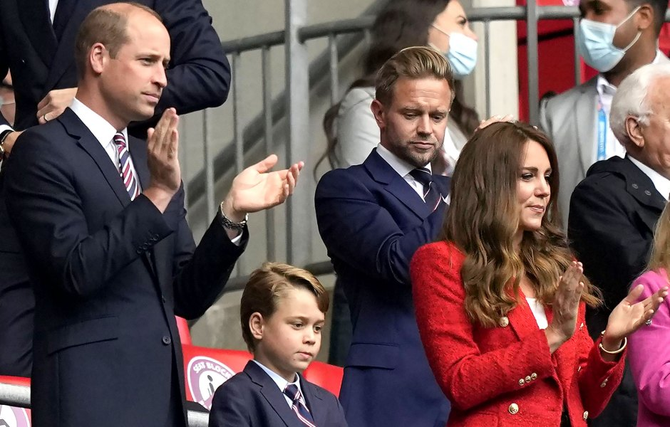 Prince William Son Prince George Twin Matching Suits At Euro 2020 Soccer Match