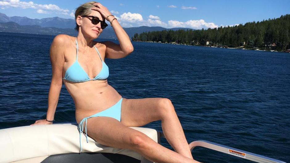 Sharon Stone Bikini Body Photos