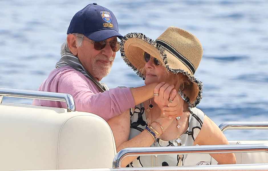 Steven Spielberg Kate Capshaw Show PDA Rare Outing