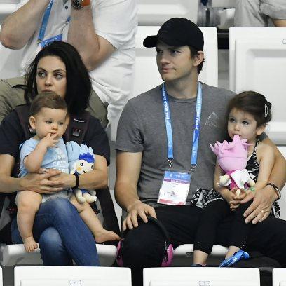 Ashton Kutcher and Mila Kunis Don't Bathe Kids Unless Visibly Dirty