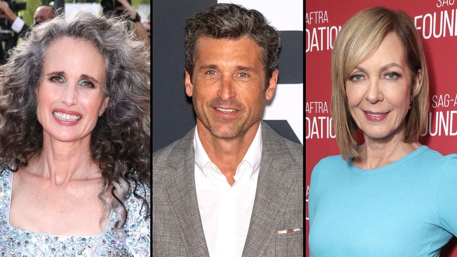 Andie Macdowell, Patrick Dempsey and Allison Janney Stars Who Celebrate Their Natural Grey Hair